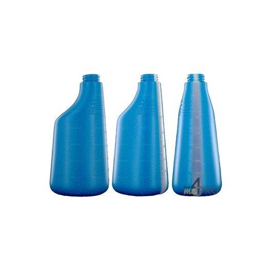Botella de polietileno azul de 600 ml
