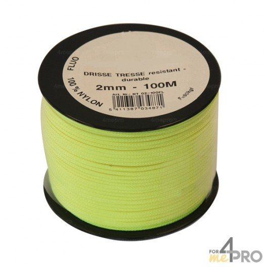 Cordel nylon fluorescente Ø3mm - 100 m