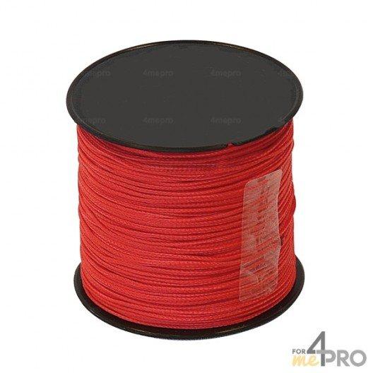 Cordel nylon rojo Ø1mm