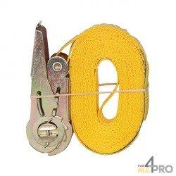 Correa de amarre PES con tensor 25mm