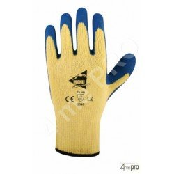 Guantes anticorte látex azul top adherencia - Norma EN 388 3543