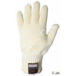 Guantes anticorte doblados algodón - de alta resistencia calor - normas EN 388 454x / EN 407 x2xxxx