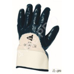Guantes de manutención pesada - nitrilo pesado impermeable dorso3/4 - Norma EN 388 4211