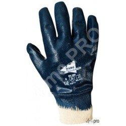 Guantes de manutención pesada - nitrilo pesado impermeable mano entera - puño de tejido - Norma EN 388 4211