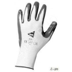 Guantes de manutención - nitrilo gris en soporte nylon blanco - Norma EN 388 3121