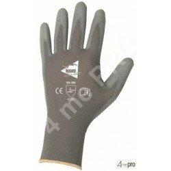 Guantes de manutención fina - poliuretano gris en soporte nylon gris - Norma EN 388 4131