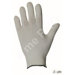Guantes de manutención fina - poliamida blanco sin revestimiento