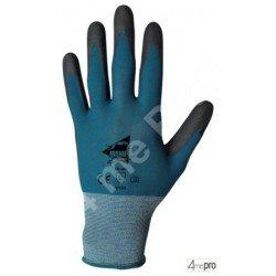Guantes de manutención fina - poliuretano negro en soporte nylon azul - Norma EN 388 4131