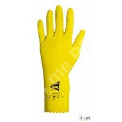 Guantes de protección química 32cm - látex flocado algodón - normas EN 388 1011 / EN 374