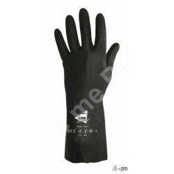 Guantes de protección química 32cm - neopreno flocado algodón - normas EN 388 3121 / EN 374 AKL