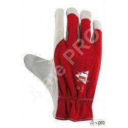 Guantes de protección cuero de cabra y dorso de algodón con elástico de apriete - Norma EN 388 2122