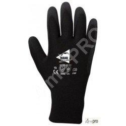 Guantes resistentes al frío interior muletón - látex en polyester - normas EN 388 2243 / EN 511 x1x