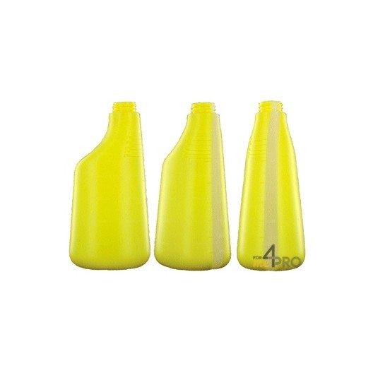 Botella de polietileno amarilla de 600 ml