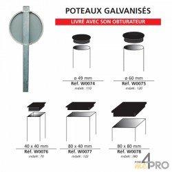 Poste galvanizado para paneles de señalización - Por sellado