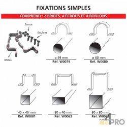 Set de fijación simple para paneles de señalización