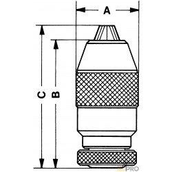 Portabrocas autoajustable serie industrial DIN B10 - capacidad de 0 a 6 mm