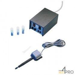 Grabador con micro-percusión azul y negro