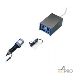 Grabador con arco eléctrico azul y negro