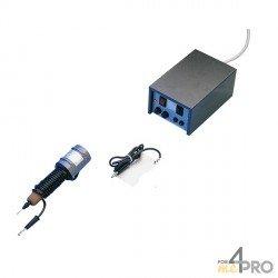 Electrodos 1mm para grabador con arco eléctrico azul y negro