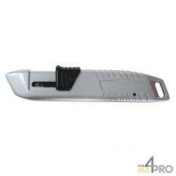 Cuchillo de seguridad retráctil metálico