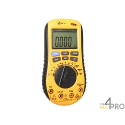 Multímetro : voltímetro, amperímetro, óhmetro, termómetro, capacímetro