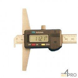 Indicador de profundidad digital con talón 20 cm