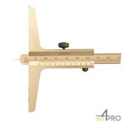 Indicador de profundidad acero inoxidable con punta 20 cm
