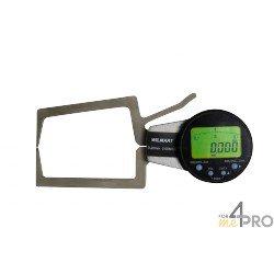 Reloj palpador de exterior digital capacidad 0-20 mm