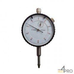 Reloj comparador económico con pata - Carrera 0-10 mm