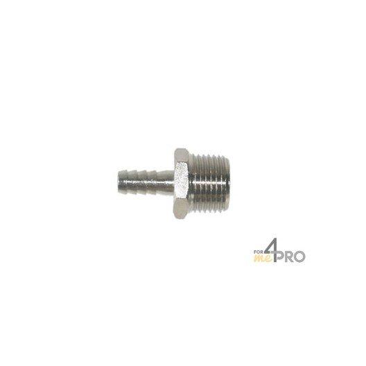 Conexión para tubo acanalado níquel 9 mm x 1/2