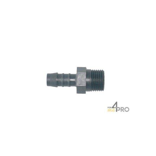 Conexión para tubo acanalado plástico 12 mm x 1/2
