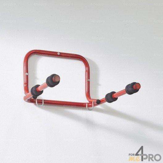 Soporte de pared plegable para bicicletas con funda de protección en espuma - 2 bicis