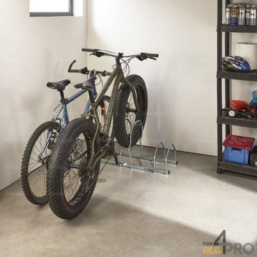 Aparcabicicletas para bicis con neumáticos anchos - 3 bicicletas