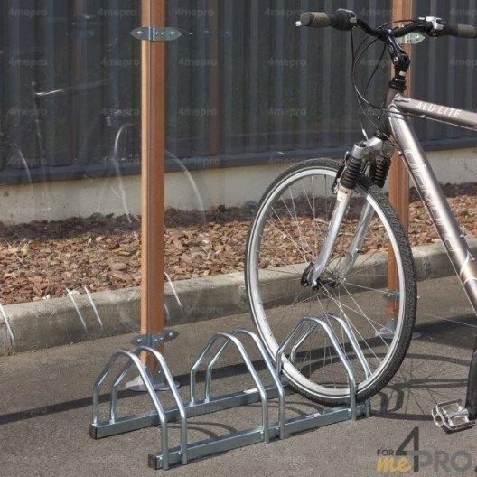 Aparcabicicletas de suelo cara a cara para 3 o 4 bicicletas