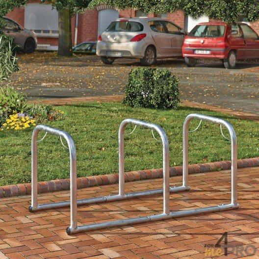 Soporte para bicicletas en línea con 3 arcos