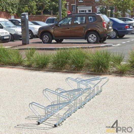 Estante de suelo para 20 bicicletas cara a cara