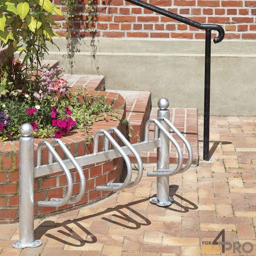 Aparcabicicletas galvanizado New York para 3 bicicletas
