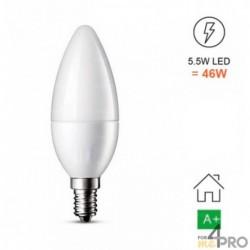 Bombilla LED E14 - forma de llama C37