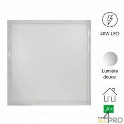 Panel LED cuadrado SuperSlim 40 W - IP20 e IKO5