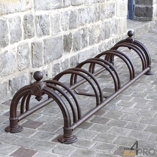 Estante para 5 bicicletas Versailles rojizo