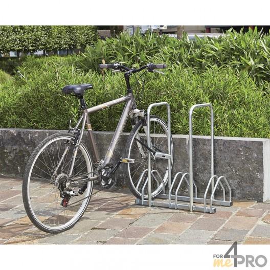 Râtelier 3 vélos face à face + 2 arceaux antivol