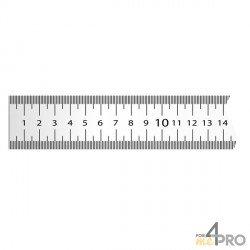 Cinta métrica plana de acero lacado blanco 5 m x 13 mm
