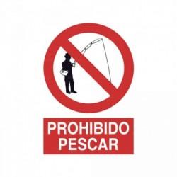 Señal Prohibido pescar