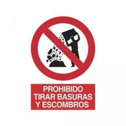 Señal Prohibido tirar basuras y escombros