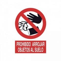 Señal Prohibido arrojar objetos al suelo