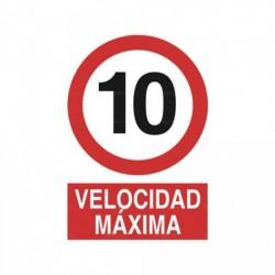 Señal Velocidad máxima 10km/h