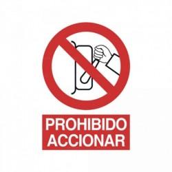 Señal Prohibido accionar 1