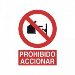 Señal Prohibido accionar 2