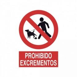 Señal Prohibido excrementos