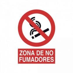 Señal Zona de no fumadores